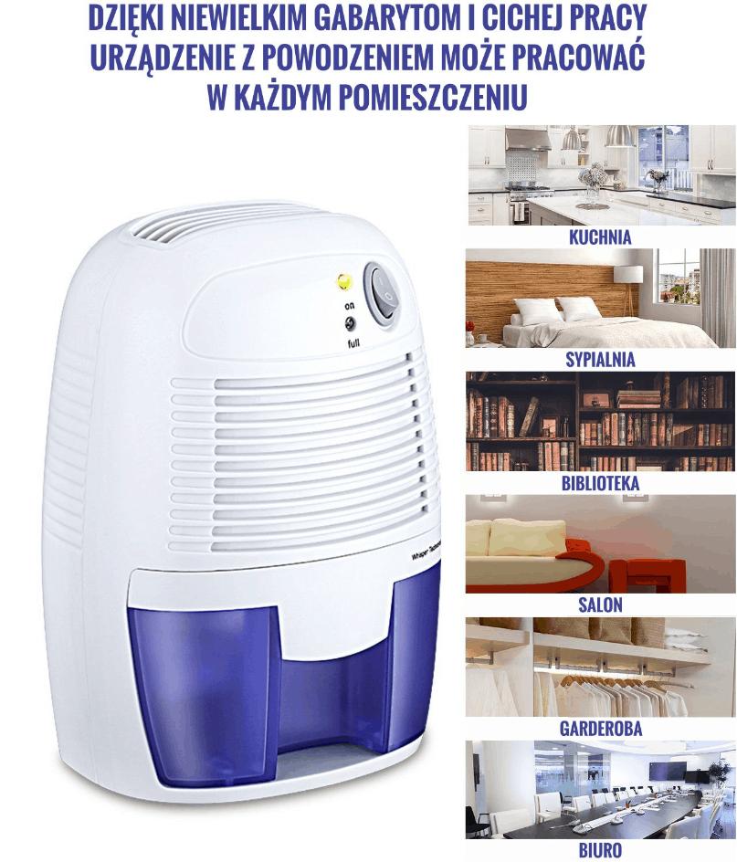 Wydajny i cichy osuszacz oczyszczacz powietrza OS-P2 500 ml